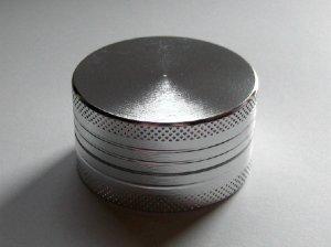 画像1: アルミ製グラインダー/クラッシャー【シルバー】
