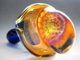 【限定特価】【PsychedelicART】パイレックス製ガラスパイプ【BIG HEADハニカムTOP】