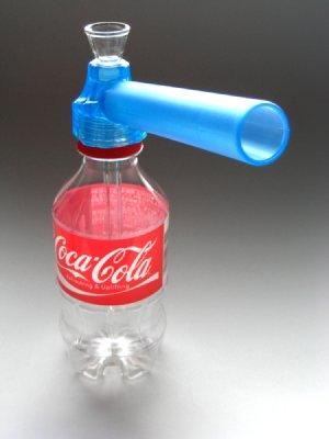 画像1: 水パイプKIT★ペットボトルが即ボング水パイプに♪【青】