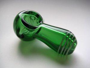 画像2: パイレックス製ガラスパイプ【グリーングリーン】