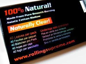 画像3: Glass clear キングサイズ 100%天然植物繊維セルロースペーパー巻紙