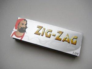画像1: ZIG-ZAG ジグザグ シルバー 1-1/4 ペーパー巻紙